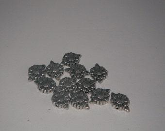 Silver Margarita connectors 12 pieces.