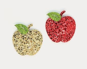 Girls Glitter Sweet Apple Hair Snap Clip