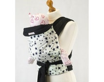 Palm and Pond Mei Tai Baby Carrier - Blue Stars