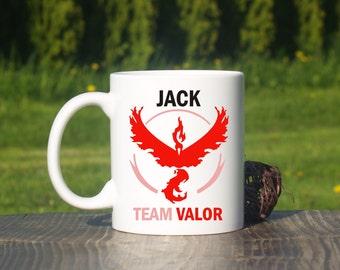 Personalized Team Valor mug-Pokemon go-Pokemon team-Pokemon coffee mug-Pokemon team go mug-Team Valor-Pokemon mug-Valor mug-Pokemon go mug