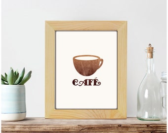 Coffee print, kitchen decor, kitchen print, coffee poster, coffee wall art, coffee mug, home decor, printable decor, printable wall art