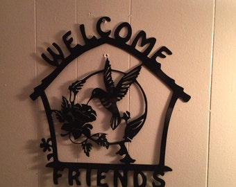 Welcome sign aprox 12x14 inches.