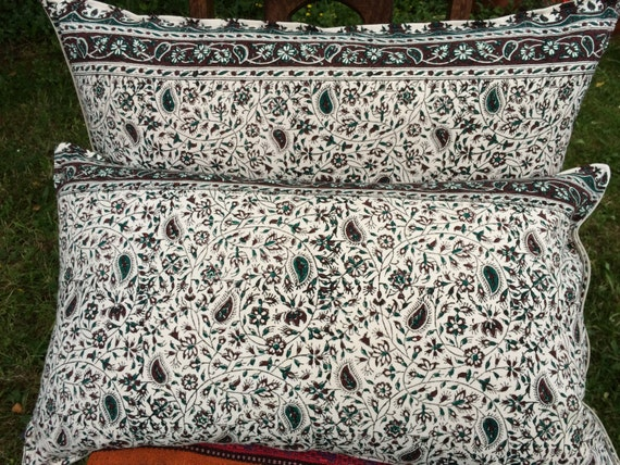Set of traditional lumbar pillow cover, floral design 16x30,gift for her new home,home & living,green pillow,decorative cushion,bed pillows