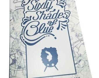 Sixty Shades Blue Pencil Sketchbook