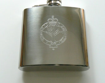 Welsh Guards stainless steel Hip Flask