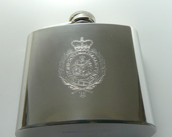 Royal Regiment of Fusiliers stainless steel Hip Flask