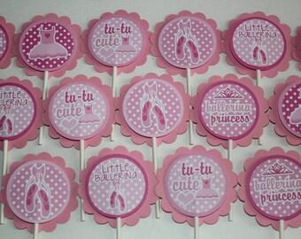Ballerina Cupcake Toppers - set of 15