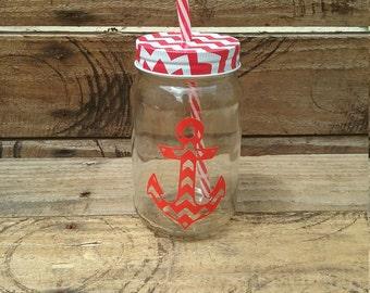Anchor jar with lid 16oz