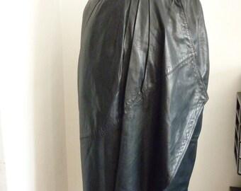 SALE_Gianni Versace black leather wrap skirt XS