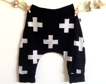 Baby harem trousers plus/black
