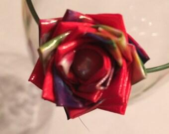 Tie Dye Duct Tape Rose Pen