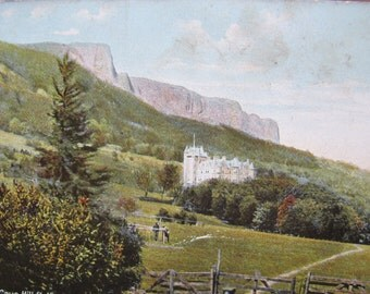 Cave Hill and Belfast Castle colourized postcard / posted 1907 / Irish castle postcard