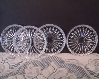 Set of four Glass Coasters, from the 40's, (# 563/bb20)