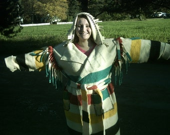 Custom made rendezvous mountain man Blanket Coat Capote Coat
