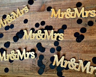 Mr & Mrs Confetti.  Wedding Confetti.  Wedding Shower Confetti. Mr Mrs Confetti. Mr Mrs.