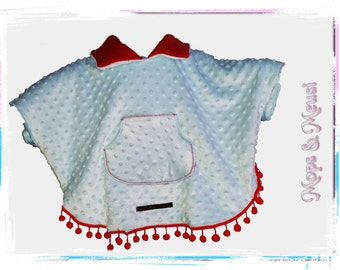 Poncho red blue points 104/110