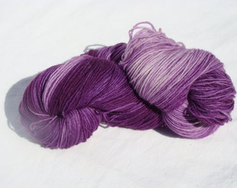 Hand-dyed sock yarn Merino and nylon fingering