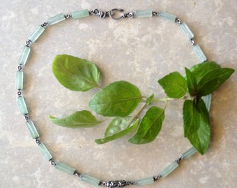 Mint sorbet silver necklace