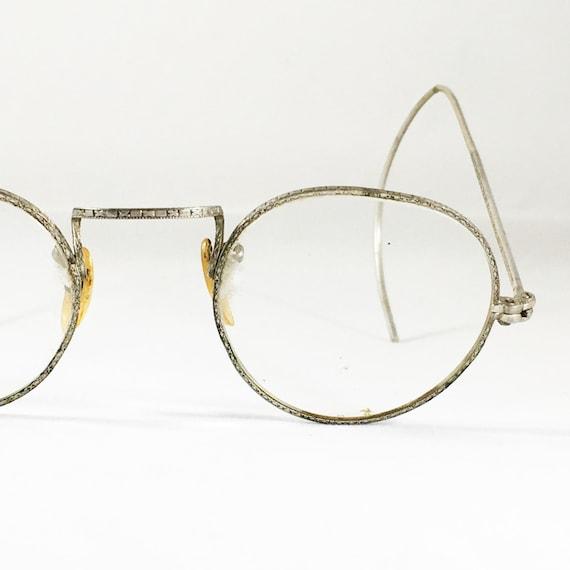 Antique Eyeglasses Wire Glasses Vintage Eyeglasses Silver