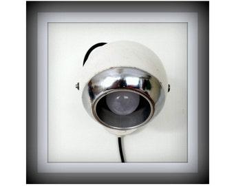 White Retro Wall GEPO eye-ball lamp 70s