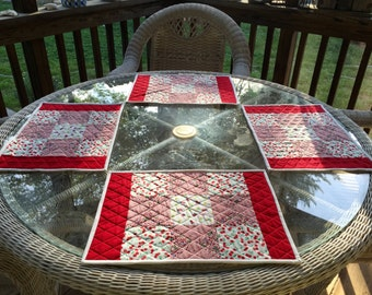 Quilted 1930s Reproduction Placemats