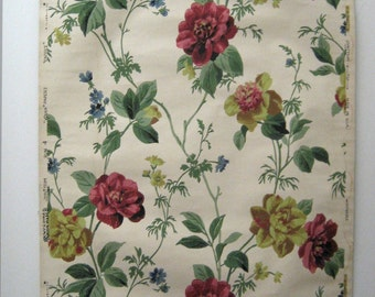 Beautiful Antique 20th Century American Floral Wallpaper (9447)