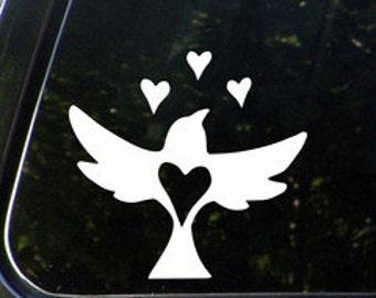 bird with hearts