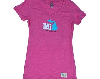 My Michigan V-Neck T-shirt