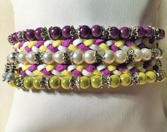 "Bracelet ""Multicolored braids"""