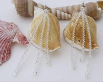 Bridal Earrings Wedding Accessories Long Crystal Earring Handmade Wedding Earrings Crystal Bridal Jewelry Swarovski Earring Jewellery