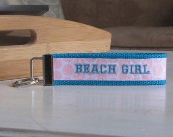 Beach Girl Initial Key Fob
