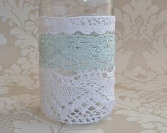 Crochet lace tealight holder