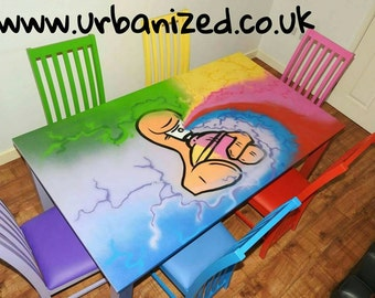 Graffiti Dining Table and Chairs