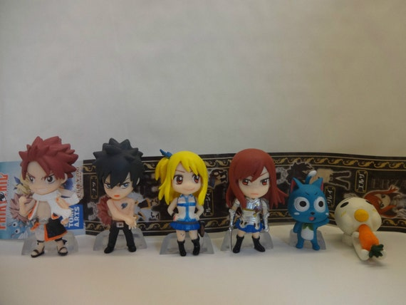 Mister a gift fairy tail anime manga set of 6 plastic cake for Anime beyblade cake topper decoration set