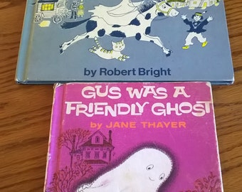 GEORGIE Goes West (Bright), GUS Was A Friendly Ghost (Thayer), Vintage Halloween, Very Good!