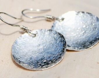Simple Silver Circle Earrings