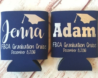 Graduation Party Favors - Graduation Can Coolers - Fun Birthday Favors - Personalized Favors  - Birthday Party