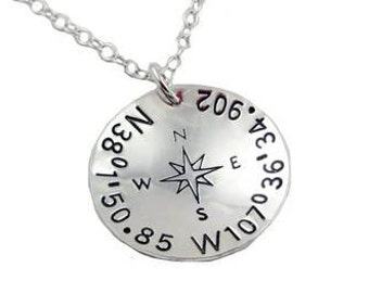 Wedding Compass Necklace {Sterling Silver}