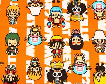 """One Piece animation Character Fabric made in Japan, 45cm by 53cm or 18"""" by 21"""""""