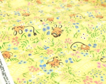 Pocket Monster, Pokemon, Dedenne Pikachu Character Fabric made in Korea / Half Yard
