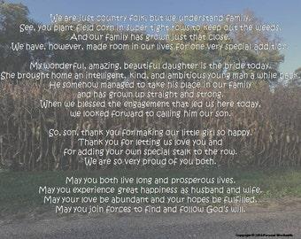 Mother groom speech | Etsy