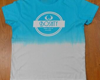 Dip Dye STREET/URBAN/SKATE/retro/festival Tee shirt