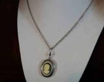 cameo locket necklace