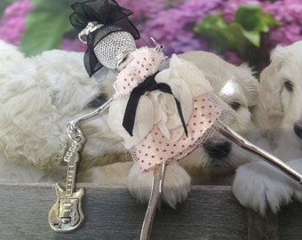 Doll Costume to wear in necklace or Keychain metal