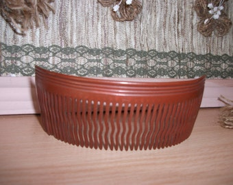 Vintage beautiful comb Retro scallop  Vintage Hair Combs, Medium Brown Hair Combs, Women's Hair Accessory