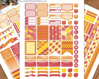Fall Planner Stickers Printable,Weekly Kit, Stickers for ERIN CONDREN LIFEPLANNER™,Planner Kit, Washi,Eclp stickers,Instant download