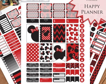 Minnie Mouse, Planner Stickers Printable, HAPPY PLANNER STICKERS, Monthly/Weekly Kit, Printable Sampler, Happy planner Kit, Instant download