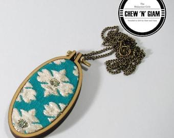 Mini Miniature Hoop Necklace