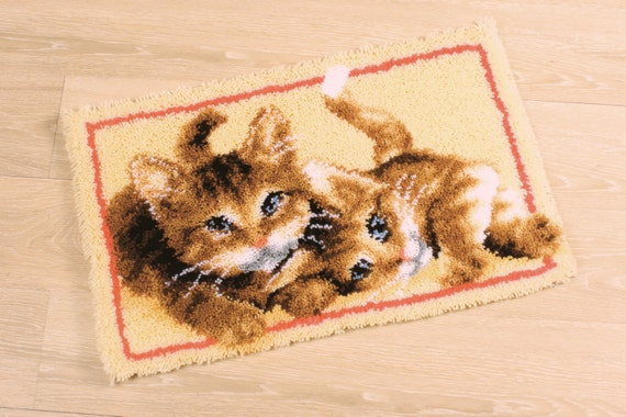 Vervaco Latch Hook Rug Kit Kittens Cat Pn 0145610