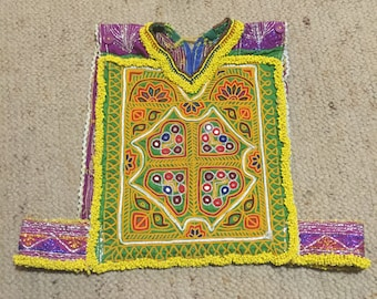 Embroidered & beaded hand made fetival crop top